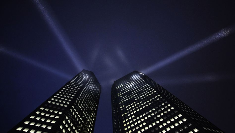 Türme der Deutschen Bank in Frankfurt