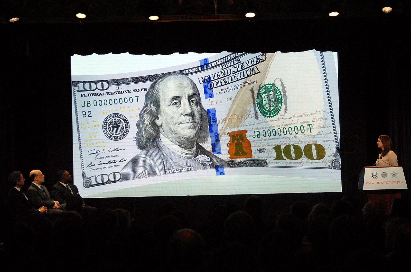 Neue 100-Dollarscheine gegen Fälscher