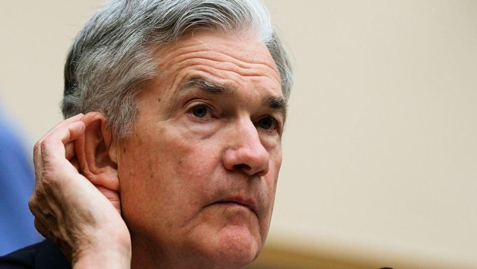 Fed-Chef Jerome Powell deutet stärkere Zinssteigerungen als bisher an
