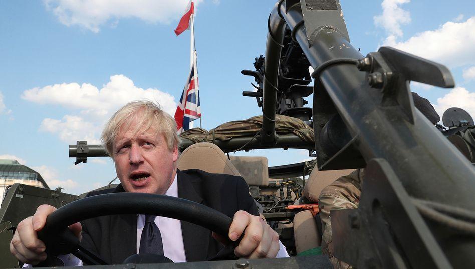 Liebt die Pose: Boris Johnson hat viel von Donald Trump gelernt
