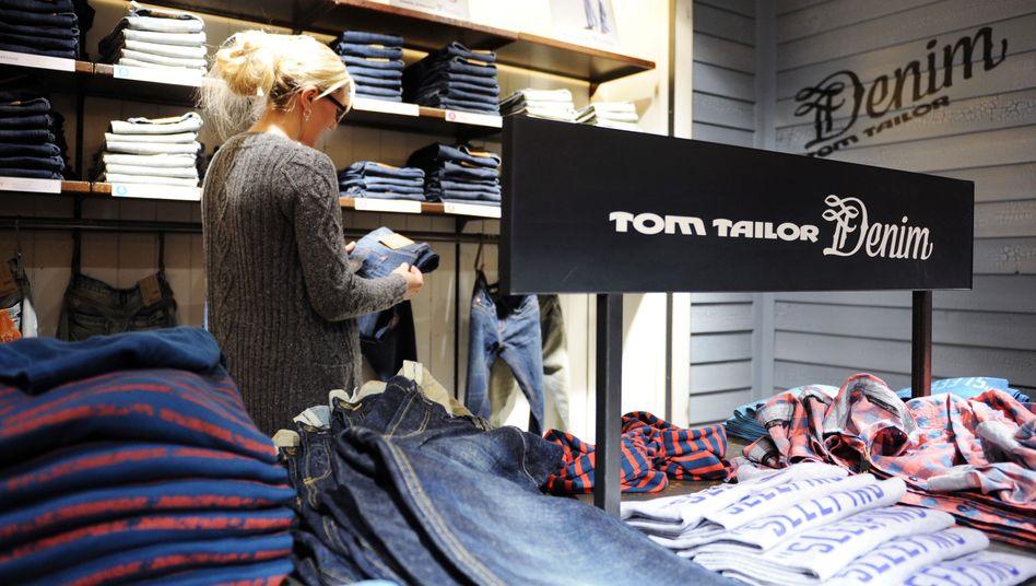 Aus der Form: Modehändler Tom Tailor.