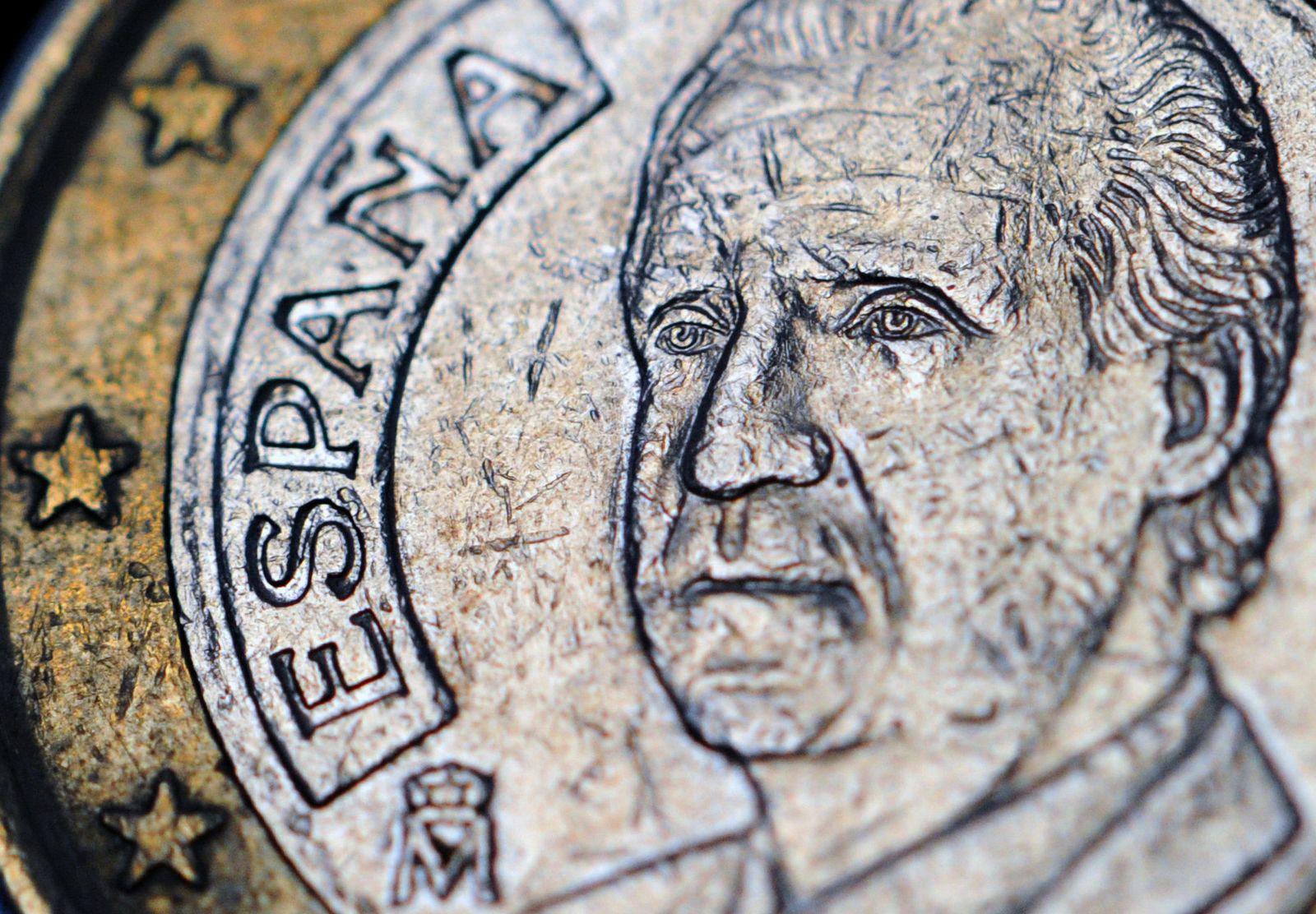 Spanien / ein Euro / Münze / König Juan Carlos