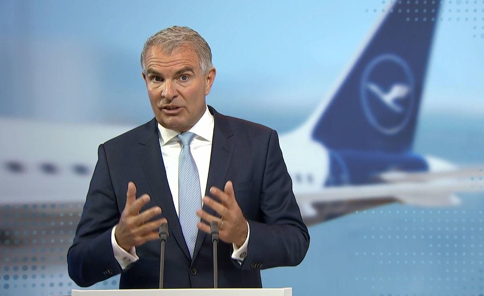 Deutschland, Frankfurt, 04.05.2021 Hauptversammlung der Lufthansa Group Foto: Carsten Spohr, Vorstandsvorsitzender (CEO