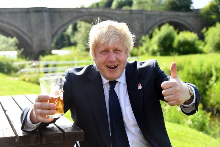 Gut gelaunt: Londons Ex-Bürgermeister Johnson war mit seiner Anti.EU-Kampagne erfolgreich - doch was nun?