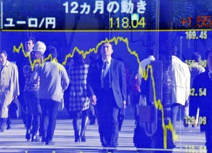 Hoffnung verpufft: Der Nikkei-Index nähert sich wieder seinen Tiefständen vom Herbst