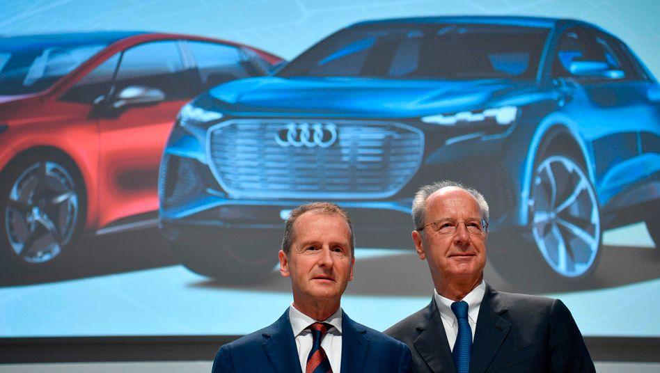 Freigekauft: Konzernchef Herbert Diess (l.) und der Aufsichtsratsvorsitzende Hans Dieter Pötsch.