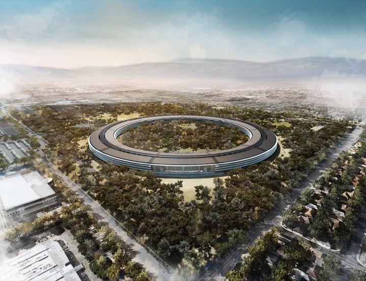 Apples neuer Campus in Cupertino: Die etablierte Konkurrrenz überrollen - so stellen sich das Cook und seine Leute auch beim iCar vor