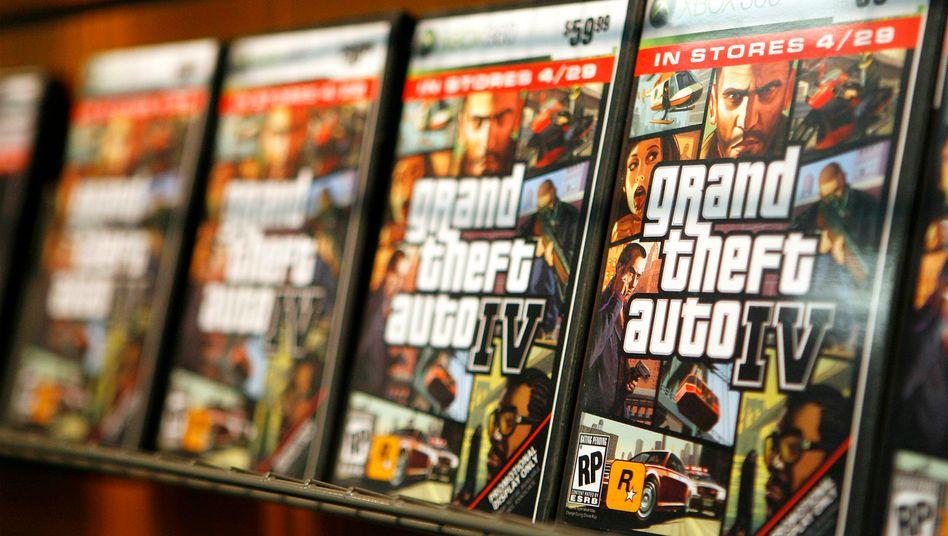 """""""Grand Theft Auto IV"""": Videospiele in Boxen verpackt und zum Ausleihen - Gamestop will sein Geschäftsmodell ändern und ein Technologie-Anbieter für Online-Gamer werden"""