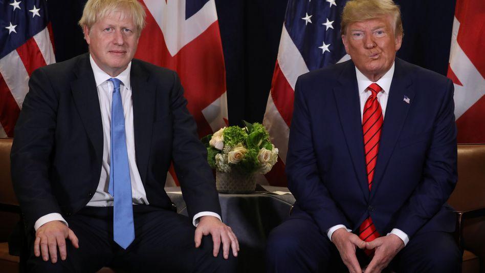 Halten die Finanzmärkte in Atem: US-Präsident Trump (r.) und Großbritanniens Premierminister Johnson.