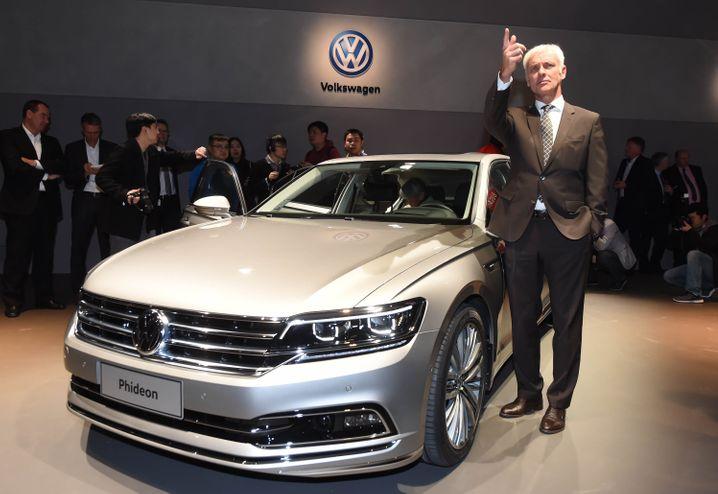 VW-Chef Matthias Müller vor wenigen Monaten in Genf: Nun weist er den Weg nach vorn mit seiner Strategie 2025