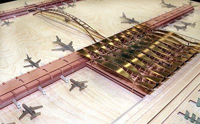 Bau bis 2010: Der geplante Großflughafen bei Schönefeld (Computersimulation) soll Tegel und Tempelhof ersetzen