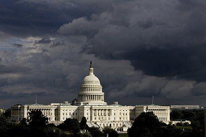 Stürmische Tage in Washington: Das Capitol am Wochenende