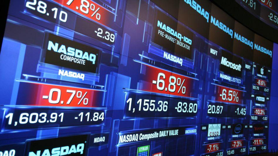 Nasdaq in New York: Tech-Aktien haben die Börsen-Hausse der vergangenen Jahre angetrieben - bleibt's dabei?