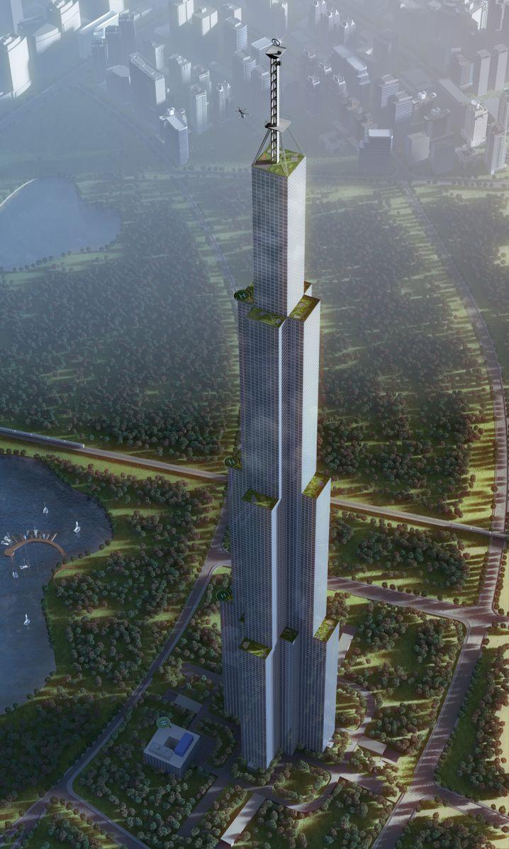 """Rekordverdächtig: Die """"Himmelstadt"""" in Changsa soll den Rekord brechen"""