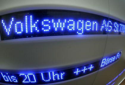 Im Fokus: Die Volkswagen-Aktie verlor am Montag an Wert