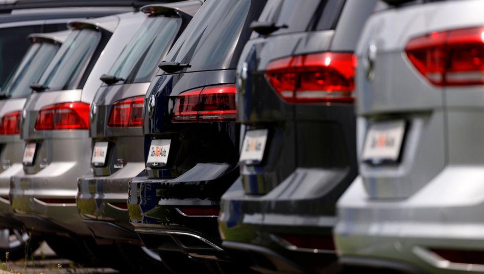 Trotz Krise gefragt: Autos vom Wolfsburger Hersteller VW