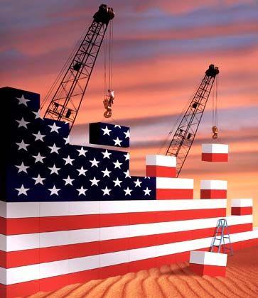 Bergab: Die US-Industrie produziert so wenig wie zuletzt vor mehr als zehn Jahren