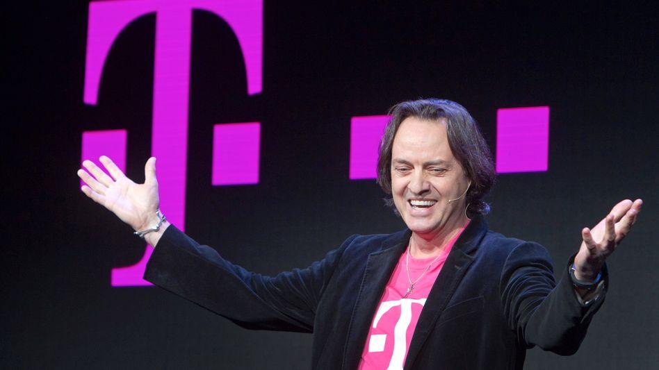 Garant für steigende Gewinne und Umsätze: John Legere, Chef der Telekom-Tochter T-Mobile US, liefert wie erwartet und hat die Prognosen für die wichtigste Sparte der Deutschen Telekom erneut erhöht