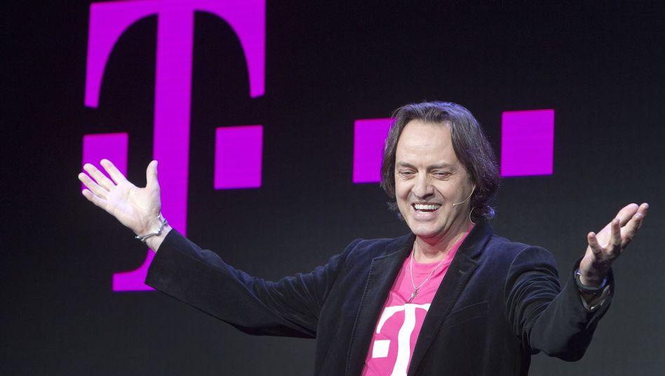 T-Mobile-Chef John Legere stützt das Geschäft der Telekom mit zweistelligen Wachstumsraten