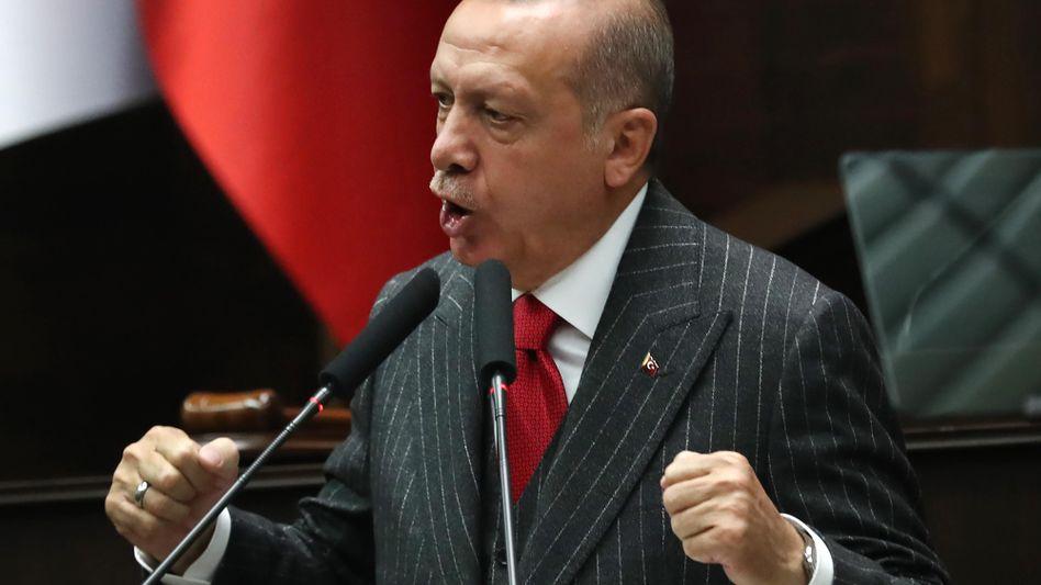 Stellt nicht nur politische Gegner kalt: Recep Tayyip Erdogan, Präsident der Türkei