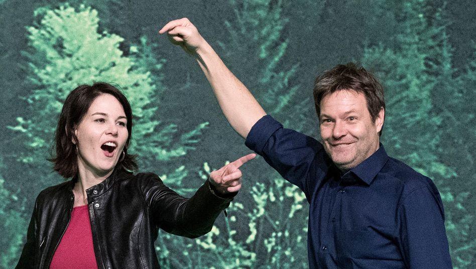 Green Dreams: Im Januar 2018 übernahmen Annalena Baerbock und Robert Habeck gemeinsam die Parteiführung. Am Montag verkündeten sie, dass Baerbock Kanzlerkandidatin der Grünen wird