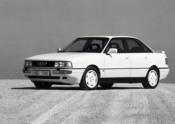 Zweite Generation: 1987 brachte Audi die Zweitauflage des 90 auf den Markt, unter anderem mit einem Fünfzylinder, der 125 kW/170 PS leistete.
