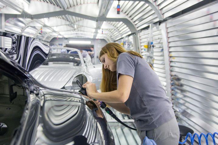 Porsche-Produktion im Werk Zuffenhausen.