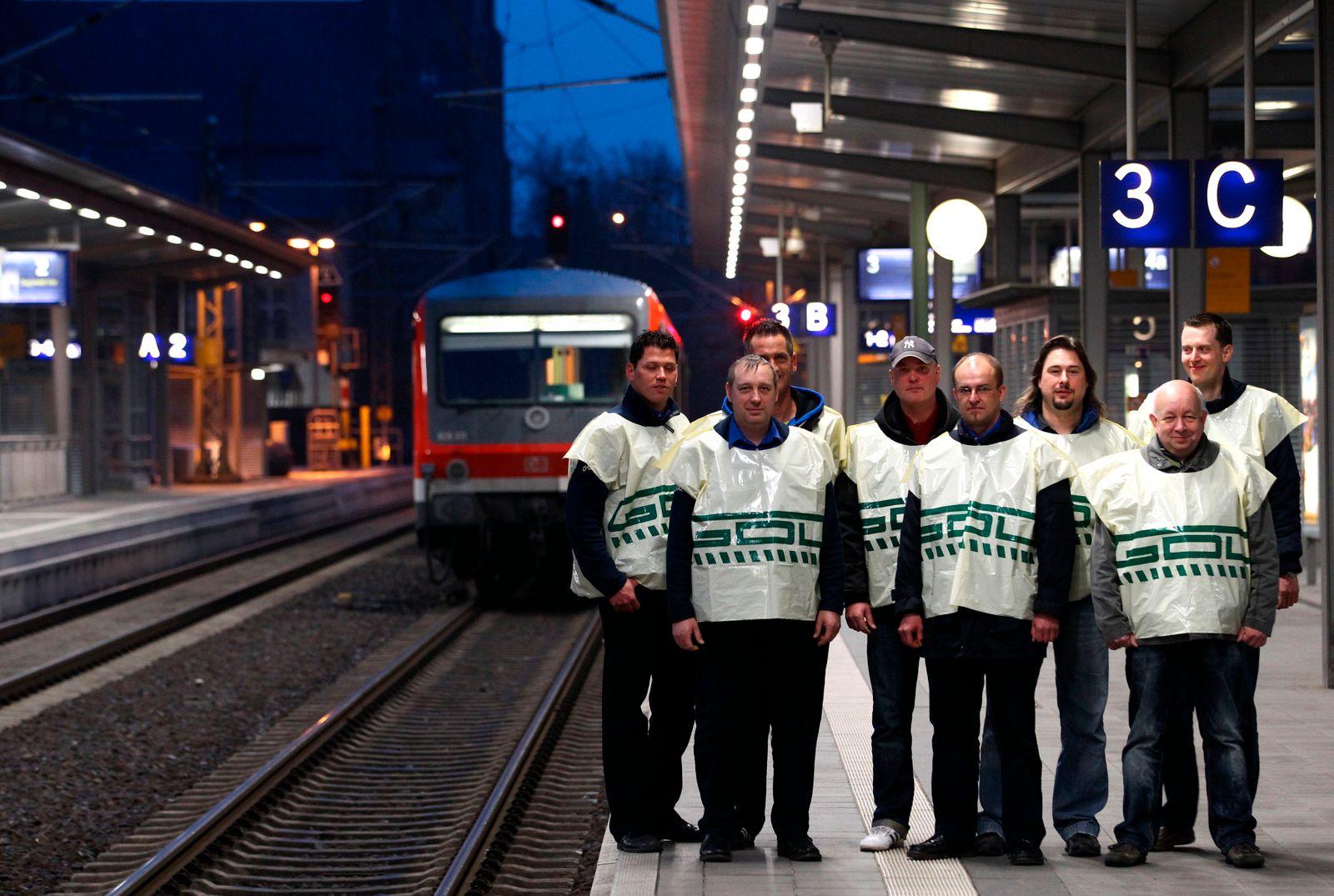Bahnstreik / Bahn / Lokführer streiken