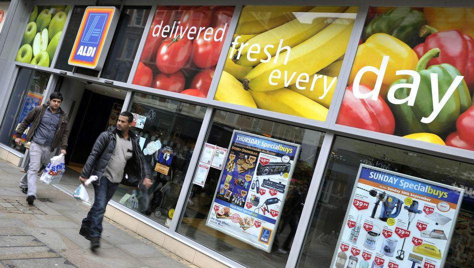 Aldi-Filiale in der Innenstadt von Manchester: Der Discounter will die Zahl der Einkaufsstätten in Großbritannien deutlich erhöhen