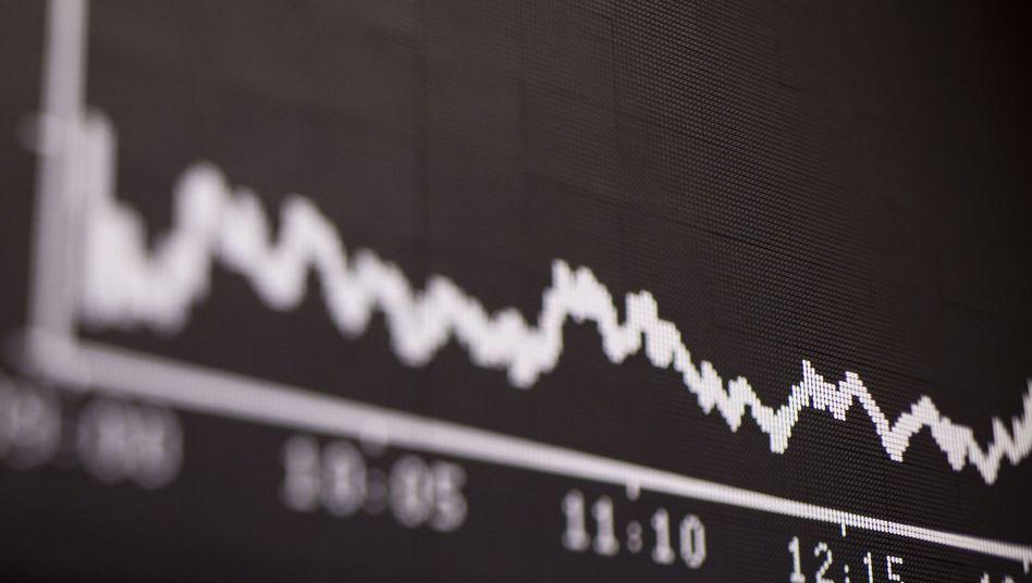 Kurstafel in Frankfurt: Anleger bleiben in Deckung