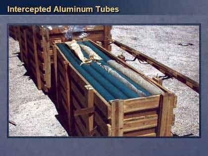 Die Aluminium-Rohre sollen als Rohmaterial für Raketen bestimmt gewesen sein - für Powell ein klarer Beleg für einen Verstoß gegen die UN-Resolution.