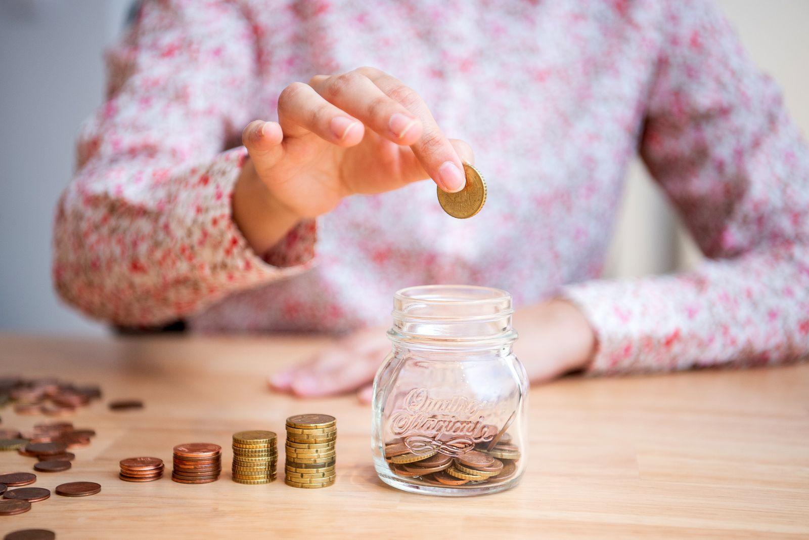 Sparen / Sparbüchse /Kleingeld