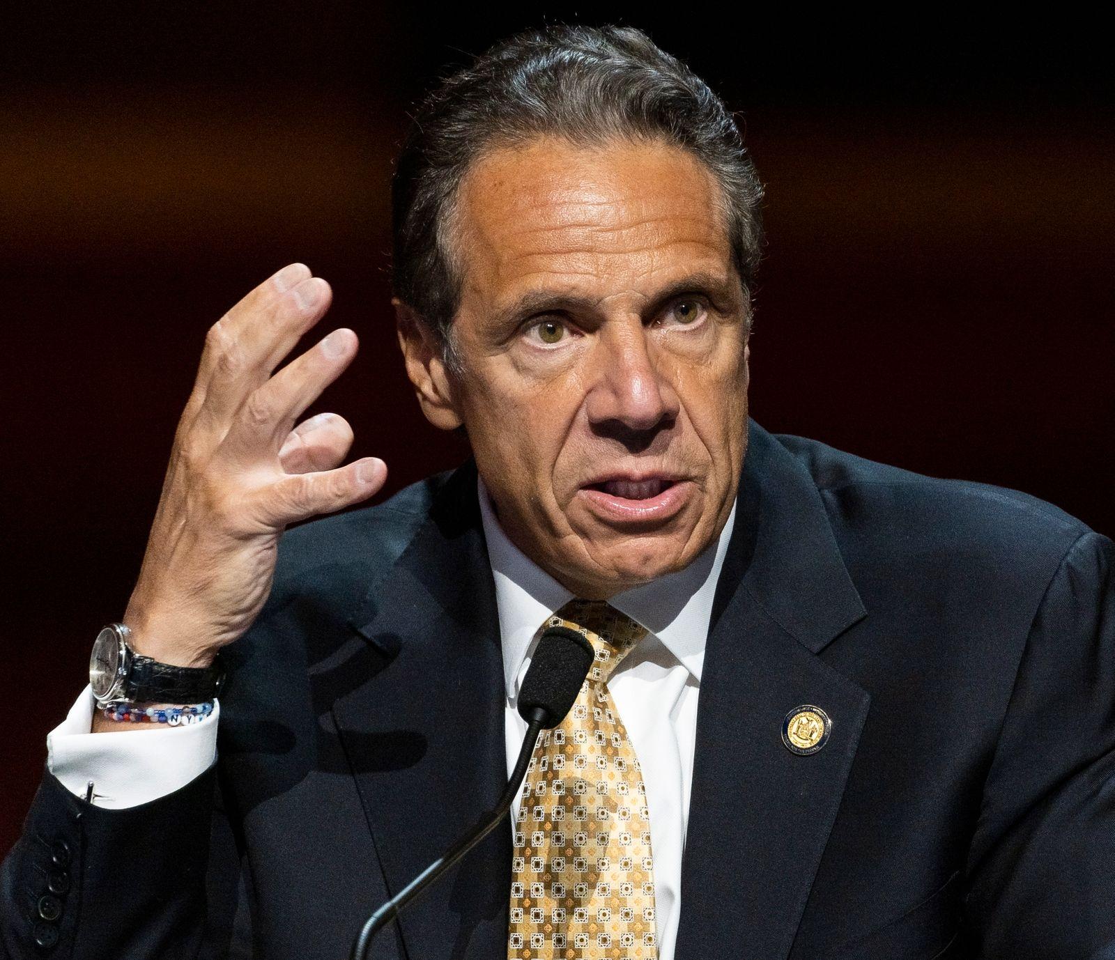 New York Governor Andrew Cuomo announces resignation