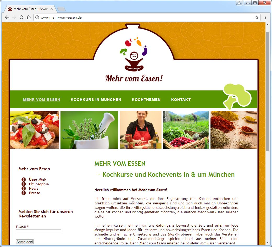 SCREENSHOT www.mehr-vom-essen.de