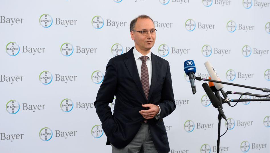Bayer-Chef Werner Baumann: Nach der Monsanto-Übernahme blicken Investoren nun auf die notwendigen kartellrechtlichen Freigaben in weltweit 30 Regionen