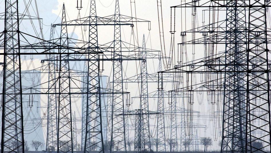 Strommasten: Für die Durchleitung des Stroms durch die Netze entstehen Kosten. In einzelnen Bundesländern weichen die Netzentgelte stark voneinander ab