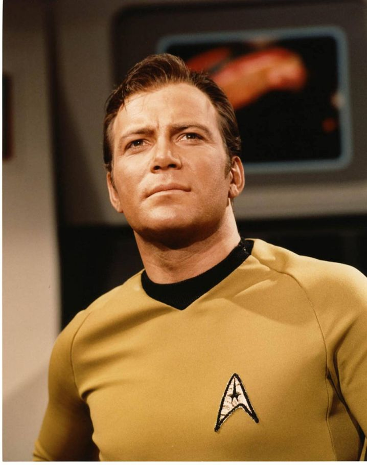 """Ein Charismatiker vor dem Herrn: William Shatner als Captain James Tiberius Kirk in """"Star Trek - Spaceship Enterprise"""" von 1967"""