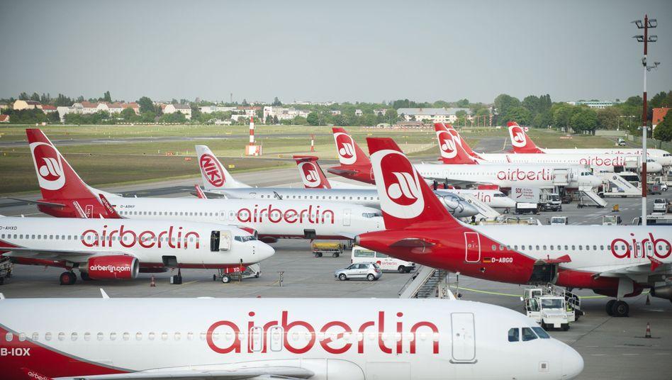 Starten seltener: Flieger von Air Berlin