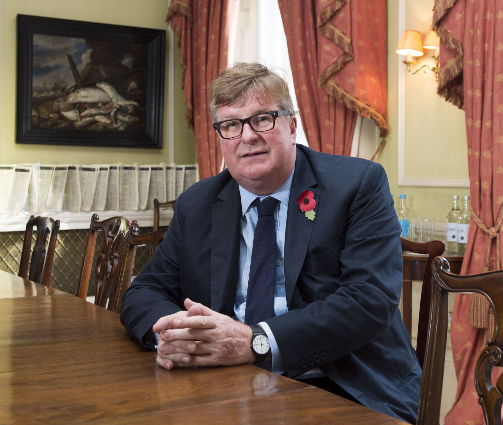 Crispin Odey at his office in London, UK - 03 Nov 2016