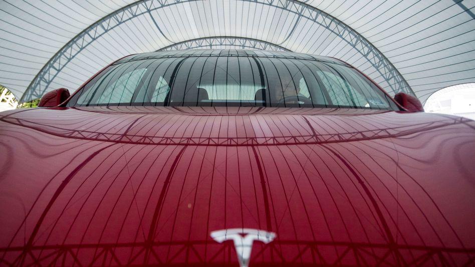 Tesla: Die Aktie kletterte am Mittwoch auf rund 595 Dollar