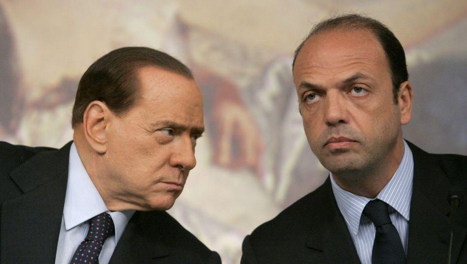 Berlusconi und Alfano: Der frühere Justizminister ist Berlusconis Kronprinz