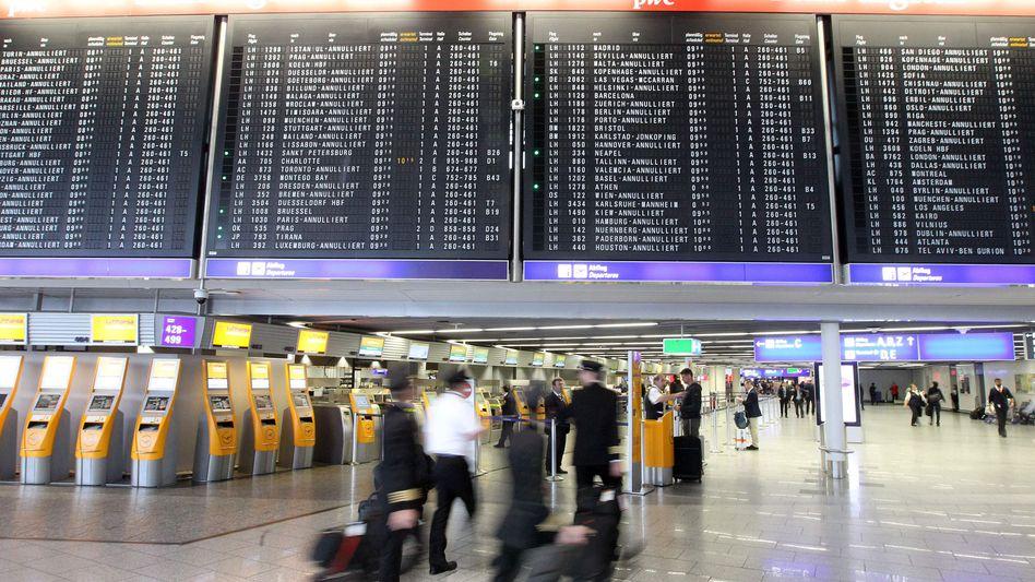Flughafen Frankfurt: Im Bereich A des Terminal 1 läuft eine Teilräumung