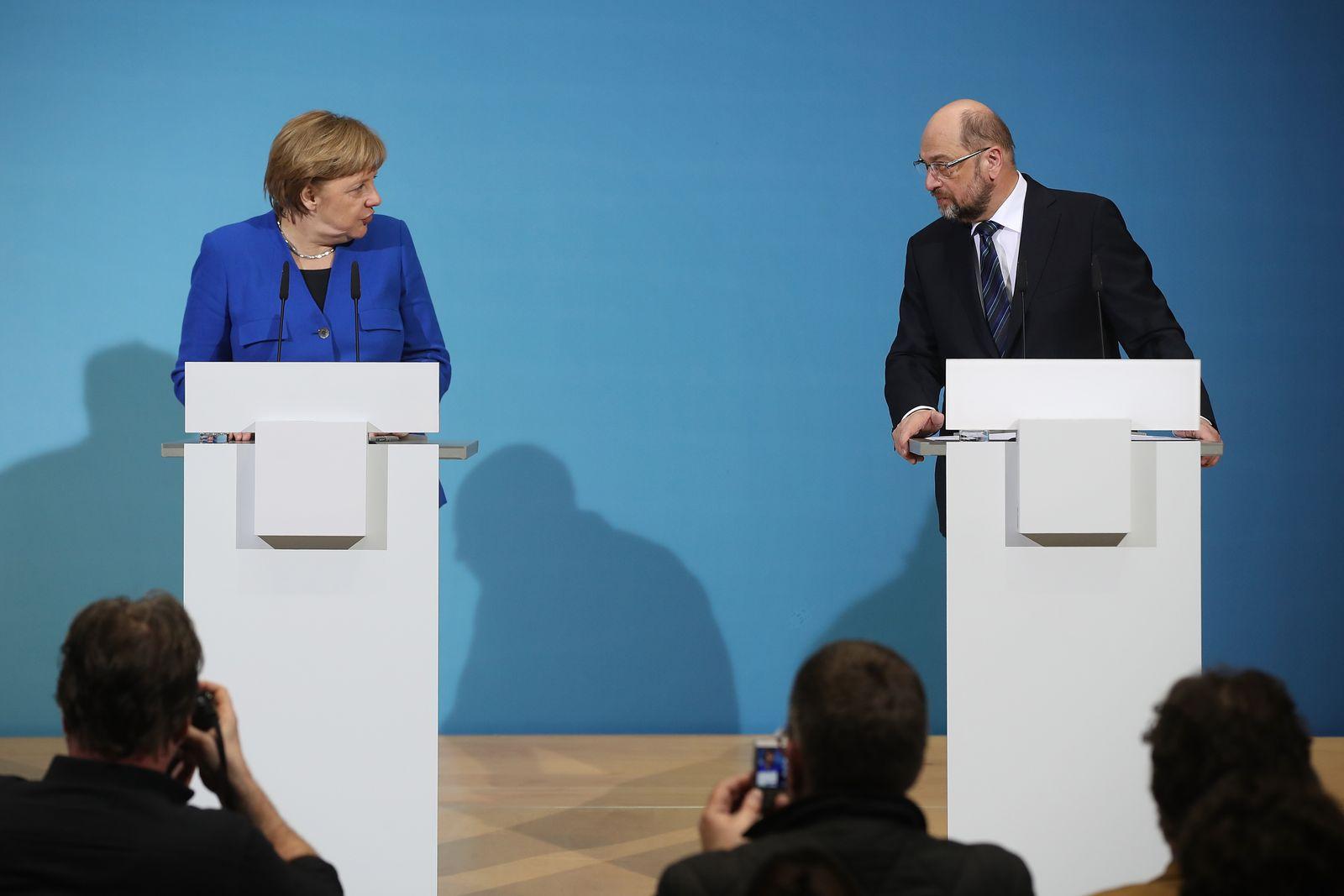Koalition/ GroKo/ Seehofer/ Merkel/ Schulz
