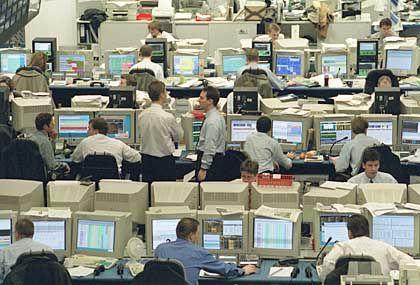 Geld bewegen, Geld verdienen: Handelsraum der Deutschen Bank