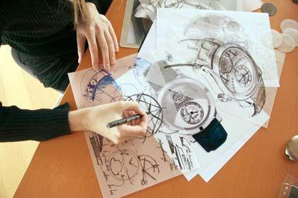 Ideenskizzen: Designerin bei Jaeger-LeCoultre in Le Sentier