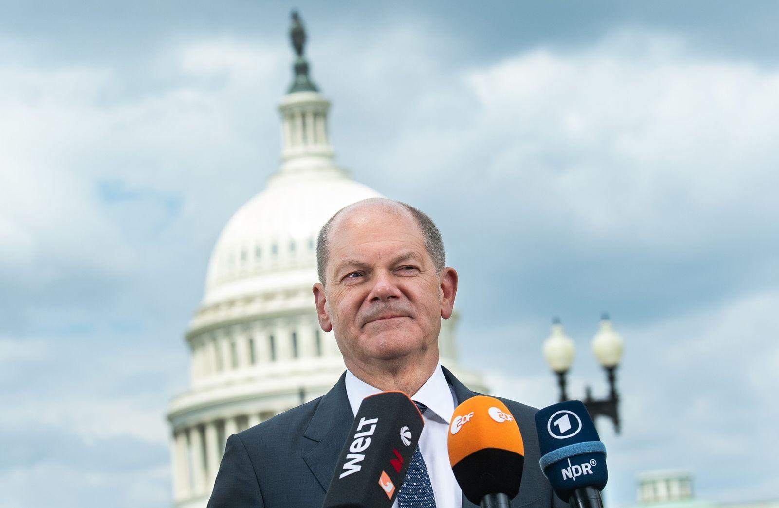 Bundesfinanzminister Olaf Scholz in den USA