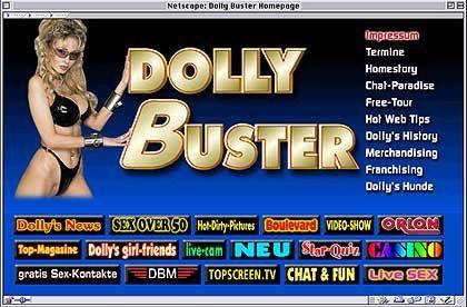 Werbung oder nicht? Dolly Busters Homepage