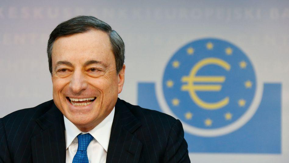 EZB-Präsident Mario Draghi: Bloß nicht schon wieder zu vorsichtig sein