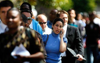 Auf der Suche: Arbeitslose in den USA