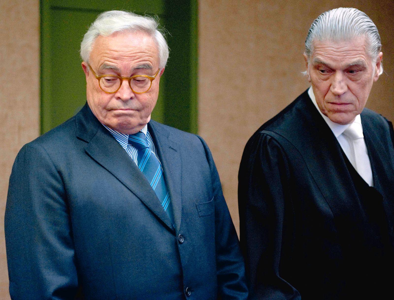 Rolf Breuer und Anwalt Sven Thomas / München / Gericht / Prozess